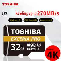 TOSHIBA M501 EXCERIA PRO U3 tarjeta de memoria Micro SD 32 GB SDHC 64 GB SDXC UHS-II Class10 U3 4 K HD velocidad de hasta 270 MB/S tf tarjeta