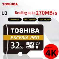 TOSHIBA M501 EXCERIA PRO U3 tarjeta de memoria Micro SD 32 GB SDHC 64 GB SDHC UHS-II Class10 U3 4 K HD velocidad de hasta 270 MB/S tf tarjeta
