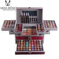 La srta. Rose maquillaje 10 estilos de aluminio cosméticos conjuntos para regalo 94 color de sombra de ojos de polvo de contorno 3 capas MS067