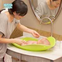 De plástico bebé bañera bebé recién nacido bañera de agua de confort ambiental portátil puede sentarse mintiendo bebé plana baño ducha