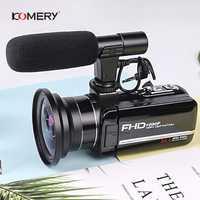 Original cámara de vídeo KOMERY 3,0 pulgadas pantalla táctil 2400w píxeles 8X soporte de Zoom Digital WiFi salida de fábrica tres años de garantía