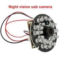 1080 p H.264 30fps alta velocidad mini cámara web USB 24 unids LEDs ir visión nocturna 1/3 CMOS AR0330 aptina USB micrófono de la cámara
