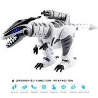 De dinosaurio robot Mundo Jurásico Brinquedos eléctrica RC dinosaurio canción de baile contra eléctrico de Control remoto Robot mascotas