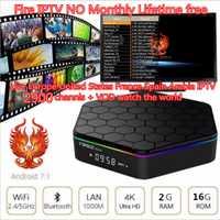 T95Z Plus Mini caja de Tv Android TV Box 2018 a HaoSiHD fuego iptv vida Smart tv Box reproductor de medios recibir 2900 canales