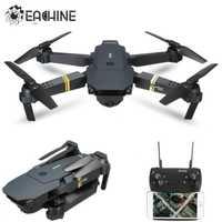 Eachine E58 WIFI FPV con HD de gran angular de la Cámara Alta modo Hold plegable brazo RC Quadcopter RTF Drone del viso XS809HW JJRC H37