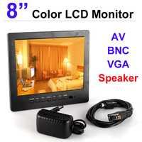 CCTV Monitor de Color de 8 pulgadas CCTV Monitor VGA con BNC Puerto AV y altavoz incorporado monitor
