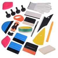 EHDIS 500 CM Knifeless cinta de diseño línea de vinilo película coche envoltura 21 piezas herramientas de tintas de ventana Kit de fieltro exprimidor de hielo raspador de La etiqueta engomada del coche