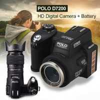 Protax/POLO D7200 cámara Digital 33MP 1080 p de enfoque automático SLR cámara de vídeo HD 24X + teleobjetivo lente gran angular lente de luz LED de relleno