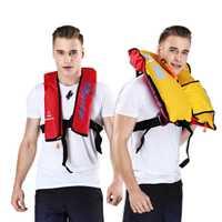 Automática adultos inflable Manual PFD vida chaleco salvavidas supervivencia natación náutica pesca 150N flotabilidad 33lbs