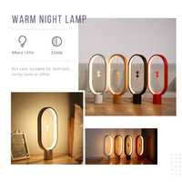 Magnético inteligente equilibrio luz creativo regalo de carga USB Luz de la noche la casa lámpara de mesa LED
