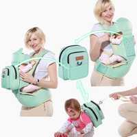 Portador de bebé 10 en 1 multifunción niño mochila niños Hip asiento recién nacidos canguro del abrigo con el pañal bolsa de carga 20 kg