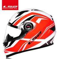 D'origine LS2 FF358 plein visage moto rcycle casque ls2 moto cross racing homme femme casco moto casque LS2 ECE approuvé pas de pompe