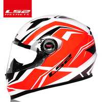 Original LS2 FF358 cara completa moto rcycle casco ls2 moto Cruz de hombre mujer casco moto casque LS2 ECE aprobado no de la bomba