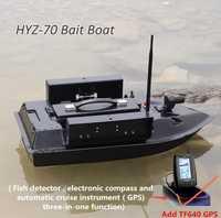 Agregar GPS/detección de peces profesional de fibra de vidrio inteligente Control remoto inalámbrico pesca cebo barco HYZ-70 500M 4KG gancho de alimentación Barco de inmersión