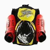 Patines de velocidad en línea mochila patines de patín de carreras bolsa casco soporte rodilleras protectoras bolsa deportes transporte contenedor