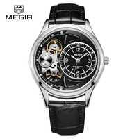 Reloj de cuarzo resistente al agua de marca MEGIR, relojes de pulsera de cuero de moda para hombre, relojes casuales para hombre, relojes para hombre, hora de reloj 2018
