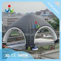 Carpa inflable de 10X10M Gaint para Camping, tienda de araña inflable blanca y negra con resistente al agua
