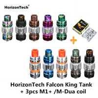 Original HorizonTech halcón rey tanque bombilla Vape Tanque 6 ML atomizador y 3 piezas M1 + M-Dua Core cigarrillo electrónico VS corona Uwell 4