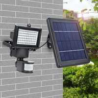 Led Super brillante Lámpara Solar impermeable 60 Leds Pir Detector de movimiento puerta lámpara de pared jardín luces de emergencia