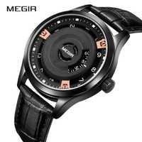 Reloj de pulsera de cuarzo con correa de cuero resistente al agua para Hombre