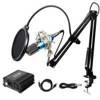 Micrófono condensador inRobert Pro XLR a 3,5mm Podcasting estudio grabación condensador micrófono Kit ordenador micrófonos con 48 V Phant