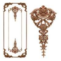 Roble Europeo madera Floral talla apliques vintage decoración para el hogar Decoración Accesorios puerta gabinete muebles Figurines