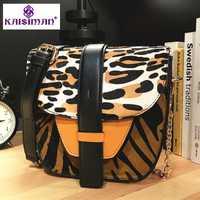 De Lujo Italia marca de leopardo de cuero genuino de vaca bolsa de hombro bolsas Messenger dama cadena bolsos de embrague Sac famoso diseñador principal