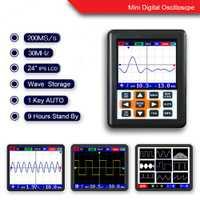 Instrumento de medición herramienta portátil mini osciloscopio digital 30 m banda 200 MSps muestreo reparación del coche del aparato