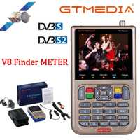 GT MEDIA/Freesat V8 Finder mètre DVB-S2/S2X numérique Satellite Finder haute définition Sat Finder Satellite mètre Satfinder 1080P
