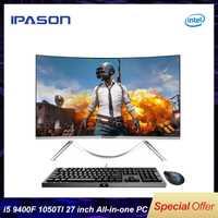 IPASON V10 27 pouces tout-en-un PC de jeu Intel 6 Core I5 9400F DDR4 8G RAM 480g SSD Non-intégré 1050ti 4G carte graphique