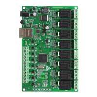 De relé de 8 canales IP de red de Web relé de Control Dual Ethernet RJ45 interfaz # Aug.26