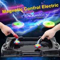 Divertido Control magnético eléctrico con Arena estadio lanzador batalla Gyro Beybladely girando Top blade cuchillas Juguetes