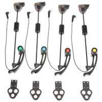 Portátil 1 Unidades LED carpa pesca mordedura alarma LED pesca mordedura indicador cadena caja de pesca accesorios de pesca de la carpa peche
