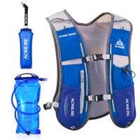 AONIJIE hombres mujeres corriendo mochila al aire libre de Deportes de pista de carreras de senderismo maratón Fitness hidratación chaleco paquete 1.5L bolsa 500 ml hervidor de agua