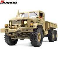 RC camión teledirigido vehículo transportador militar todoterreno monstruo 6WD táctico 2,4G Rock Crawler juguetes electrónicos niños regalo
