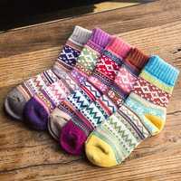 AZUE 100 pares (20X5X5) hombres/mujeres invierno Calcetines de lana Calcetines
