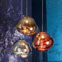 Moderno D30/40 cm fusión colgante luces Lava Irregular plata oro cobre espejo colgar lámpara de salón iluminación
