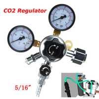 Accesorios de la barra comercial CO2 regulador cerveza Kegerator doble manómetro válvula de cierre nueva cerveza dióxido de carbono reductor