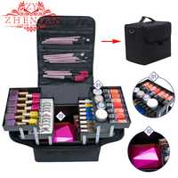 Maquillaje organizador multifuncional de plástico caja de almacenamiento de maquillaje cajas de almacenamiento de cosméticos organizador de escritorio de maquillaje de viaje