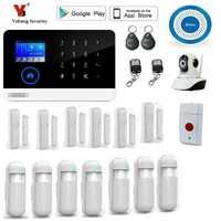 Yobang seguridad inalámbrica wifi gsm sistema de alarma TFT sensor de puerta de visualización sistema de alarma de seguridad para el hogar Kit de sirena inalámbrica