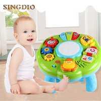 SINGIO Mesa música juguetes del bebé máquina de aprendizaje juguetes educativos música aprendizaje instrumento Musical de juguete para niño 6 meses +
