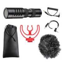 Micrófono de grabación de vídeo en-17 Pro compacto micrófono de grabación de vídeo en cámara para iPhone X 8 Huawei nikon Canon DSLR del YC-VM100