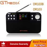 Negro GTMedia DR103B Digital de Radio FM Radio DAB + estéreo para el Reino Unido de la Unión Europea con Bluetooth altavoz incorporado de la pantalla a Color