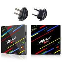 WIFI H96 MAX + RK3328 4 GB/32/64 GB de TV caja superior USB3.0 2,4g/5,0 GHz conjunto soporte Android 8,1 caja de la familia Smart TV recibido