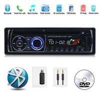 Con Control remoto CD DVD MP3 reproductor de Radio Estéreo BT Bluetooth de Audio de música panel 1 DIN FM AUX USB de la tarjeta SD