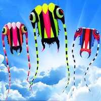Envío gratuito alta calidad 3 metros cuadrados trilobites cometa con línea ripstop kite fábrica gran carrete cometa suave pulpo cometa show