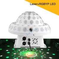 De cristal mágica rotación bola láser Control de sonido RGBYP LED fiesta eficaz discoteca de luz Bar Club de noche