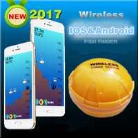 Bluetooth submarino HD Smart Sonar Fish Finder medición señuelo profundidad del agua temperatura inalámbrico buscador de los pescados Visual 10 h