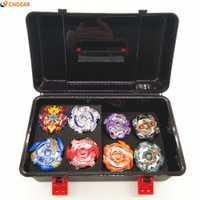 Beybladeings ráfaga de Funsion B48 B66 B41 B59 B36 B37 B35 B34 con lanzador y manejar Caja de juguetes de los niños