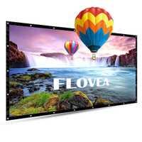 Amzdeal portable 4:3 cortina proyector ligero pantalla 100 inchs PVC proyección Oficina vestíbulos negocio HD hogar